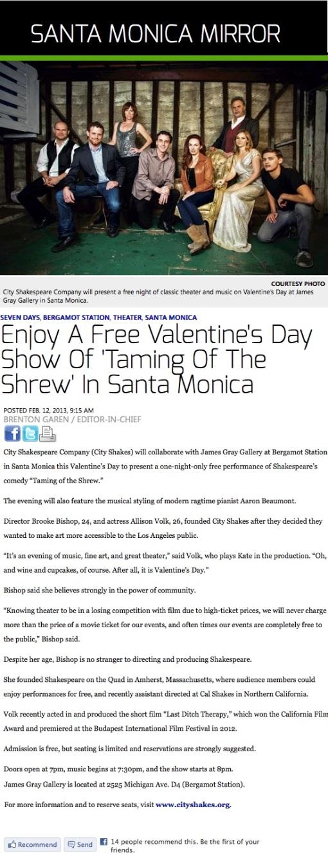 Santa Monica Mirror Article