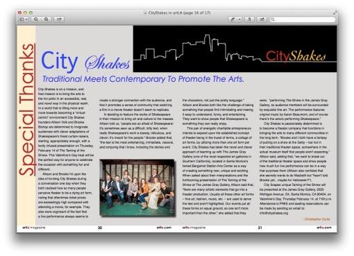 City Shakes in artLA