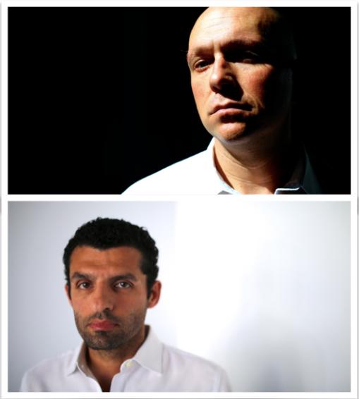 Top: Todd Elliott as Antonio ; Bottom: Peter Nikkos as Shylock