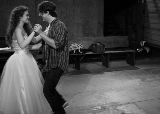 Juliet (Megan Ruble) and Romeo (David Hartstone) dance for the first and last time. (Photo by Kevin Agustin)