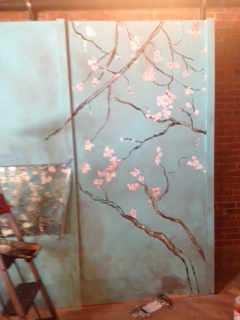 Cherry Orchard - set painting